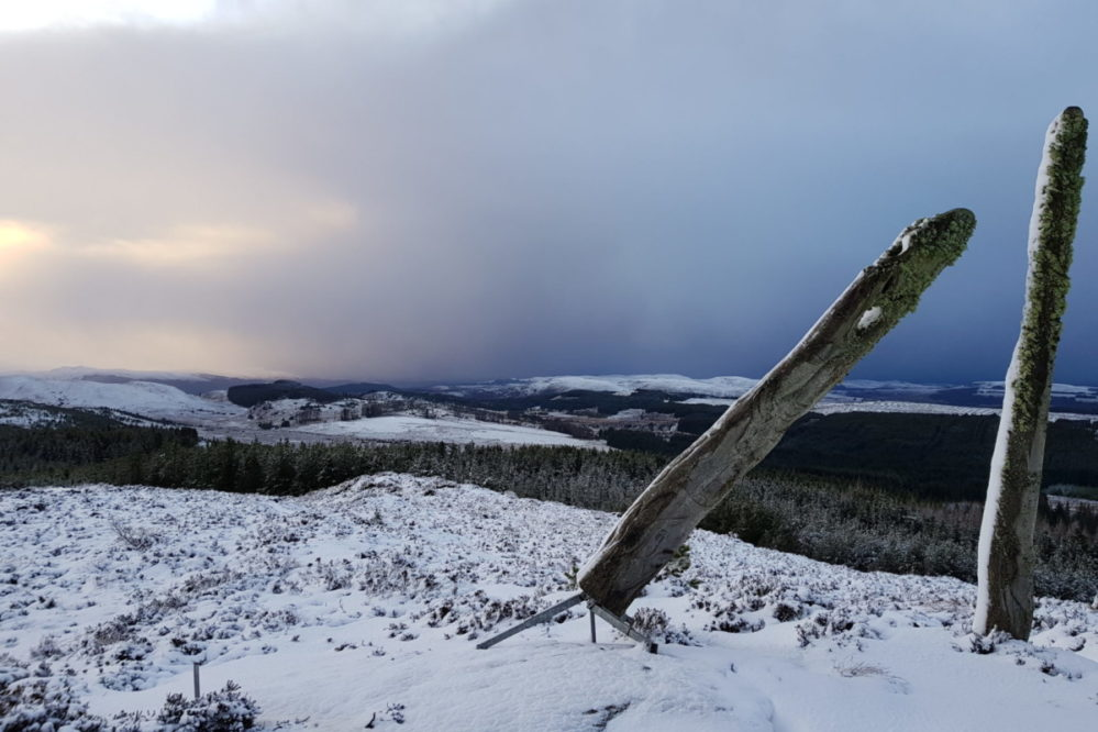 Carn na Leitire in Snow